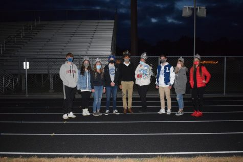 LCHS 2020 Homecoming court:  Sophomores Hawkeye Adams and Judi Georges, Seniors Gracie Galletti and Gabe Zeller, Homecoming King Avery Rush,  Homecoming Queen Bella Welton, Juniors Wilson Georges and Charli Potts, Freshman Grace Fleming, not pictured Freshman Jason Liu
