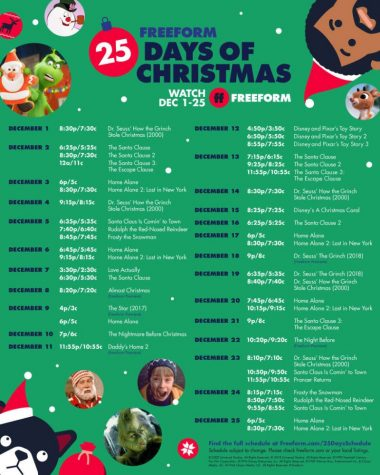 Twenty-five days of Christmas is back