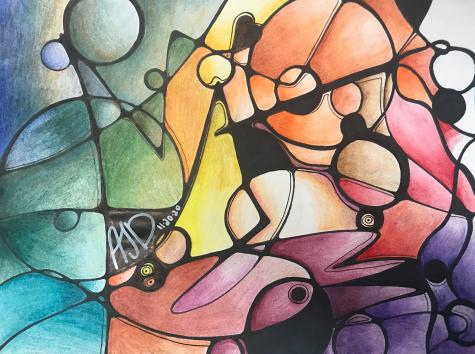 Alysha Jones-Daugherty Neurographic art Colored Pencil Honorable Mention